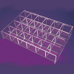 Acrylic 24 Bin Adjustable Trays