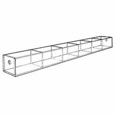 Acrylic 3-3/4in. Compartment Wide Tray