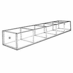 Acrylic 5-3/4in. Compartment Extra-Large Tray