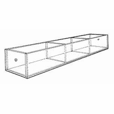 Acrylic 9-3/4in. Compartment Extra-Large Tray