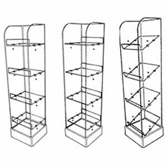 Acrylic Adjustable Shelf Tower