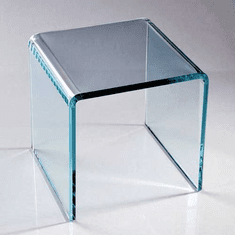 Acrylic Beveled Green Glass Look Risers
