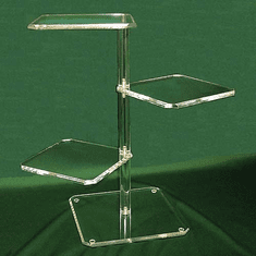Acrylic Beveled Three-Shelf Towers