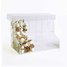 Acrylic Boot-Style Coffee Organizers 3 Section