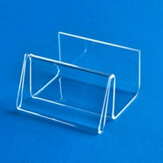 Acrylic Horizontal Business Card Holder with Display