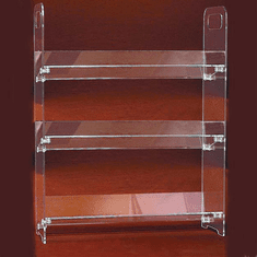 Acrylic Clip-together Three Shelf Unit