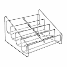 Acrylic Counter Multi Business Card Holder 4 x 2 Horizontal