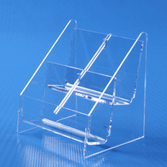 Acrylic Counter Multi Business Card Holder 2 x 2 Vertical