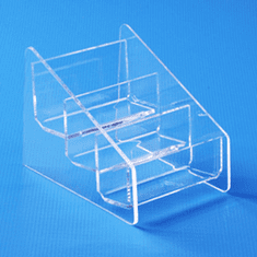 Acrylic Counter Multi Business Card Holder 3 tiers x 1 wide