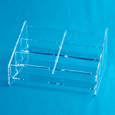 Acrylic Counter Multi Business Card Holder 3 x 2 Horizontal