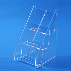 Acrylic Counter Multi Business Card Holder 3 x 2 Vertical