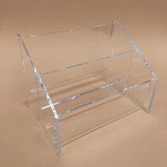 Acrylic Deluxe 2-Tier Postcard Holder