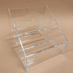 Acrylic Deluxe 3-Tier Postcard Holder