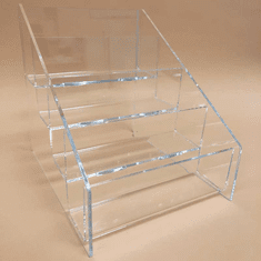Acrylic Deluxe 4-Tier Postcard Holder