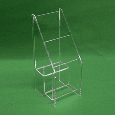 Acrylic Deluxe Multi-Tiered Tri-Fold Holder
