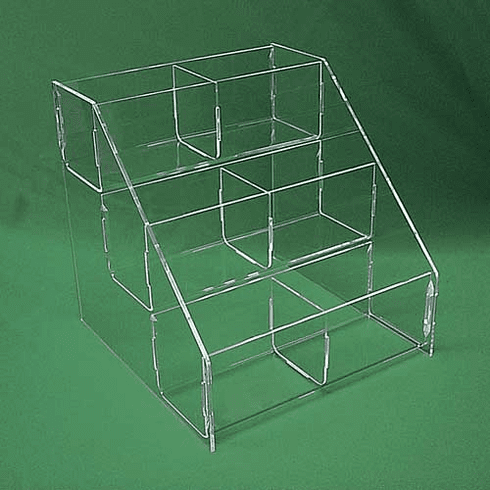 Acrylic Double 6in. Wide Tierred Display Bins