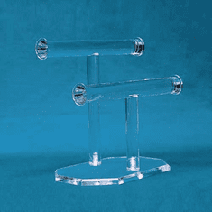 Acrylic Double T-bar Necklace and Bracelet Display