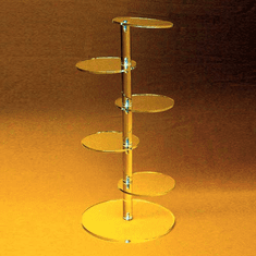 Acrylic Five Shelf Tower