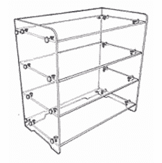 Acrylic Flat Shelf Unit