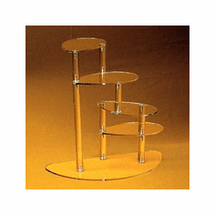 Acrylic Four-Tier Spiral Displays