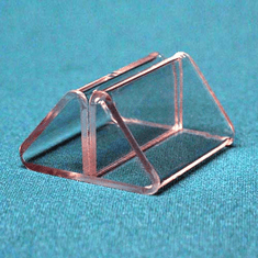 Acrylic Label-Front Pinch Clips