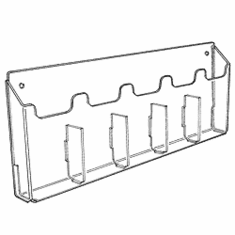 Acrylic Multi-Pocket Wall Mounting Literature Holders