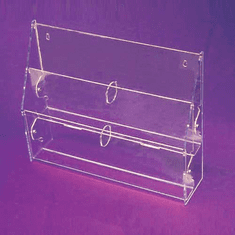 Acrylic Multi-Tiered, Multi-Pocket 8-1/2in. x 11in. Brochure Holders