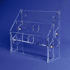 Acrylic Multi-Tiered, Multi-Pocket Greeting Card Holders