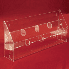 Acrylic Multi-Tiered, Multi-Pocket Postcard Holders