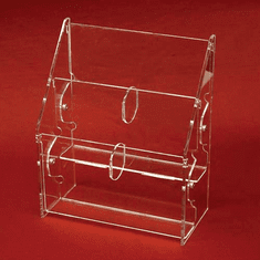 Acrylic Multi-Tiered, Multi-Pocket Tri-Fold Brochure Holders