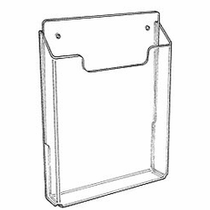 Acrylic Single-Pocket Wall Mounting Literature Holders