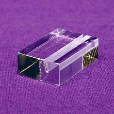 Acrylic Slot-Block Card, Sign Holders