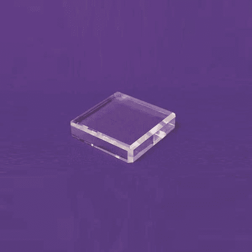 Acrylic Square Beveled Bases 3in.