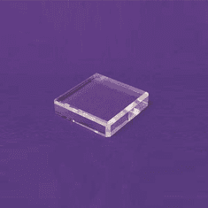 Acrylic Square Beveled Bases 4in.