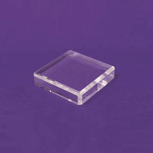 Acrylic Square Beveled Bases 5in.