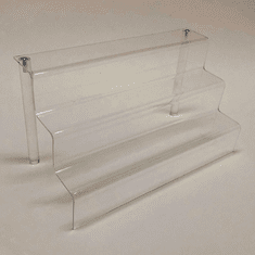 "Acrylic Stairway 12"" wide with 2"" deep shelf"
