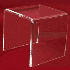"Acrylic Thick Beveled Risers 16""x16""x16"""