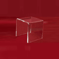 "Acrylic Thick Beveled Risers 7""x7""x7"""