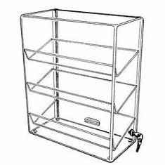 Acrylic Three-Angled-Shelf Showcases