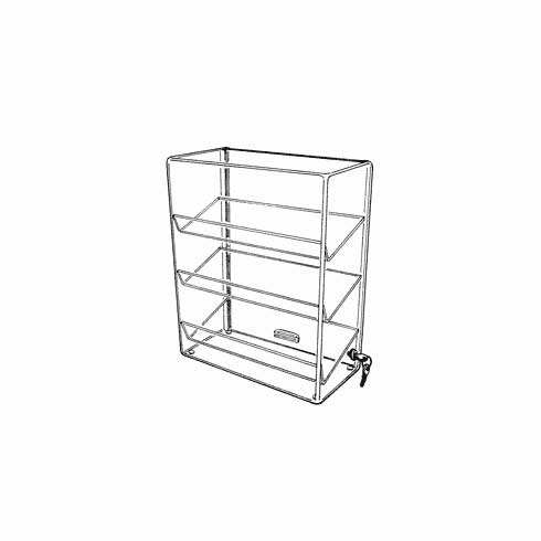 Acrylic Three Angled Shelf Showcases