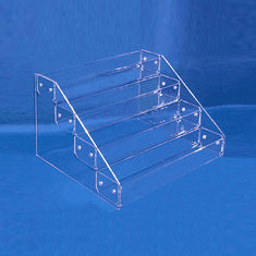 """Acrylic Tiered Display Trays with 4 Tiers 12"""" wide"""