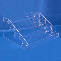 """Acrylic Tiered Display Trays with 4 Tiers 18"""" wide"""