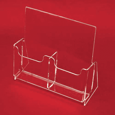 Acrylic Tri-Fold Brochure Holders with Removable Divider