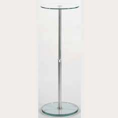 Adjustable Round Glass Pedestal