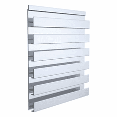 Aluminum Slatwall Panel Single Sided 60 x 12-1/4