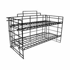 Black 2-Tier P.O.P Countertop Rack