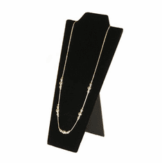 Black Velvet Padded Necklace Display