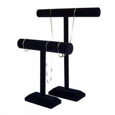 Black Velvet T-Bar Necklace Stands