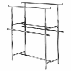 Clamp-On Hangrail for Double Bar Racks Pair
