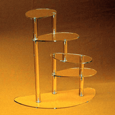 Clear Acrylic Four-Tier Spiral Displays